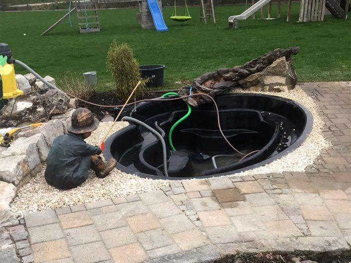 Wasseranschlüsse Gartenteich