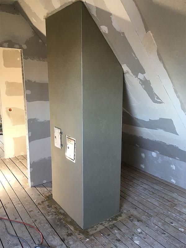 Kaminsanierung und Dachstuhlverkleidung